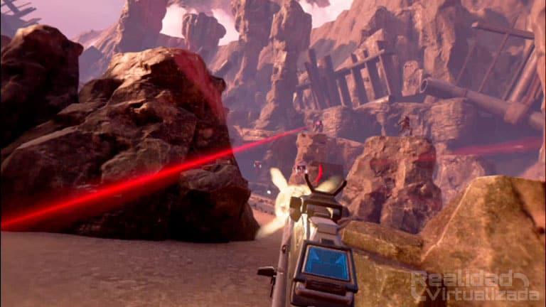 Farpoint VR es el juego que salió junto al Aim Controller