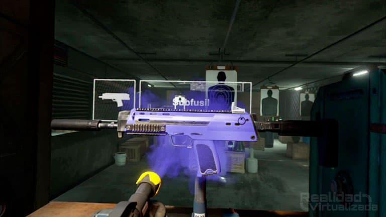 Pintar el arma de color antes de comenzar una misión con el spray
