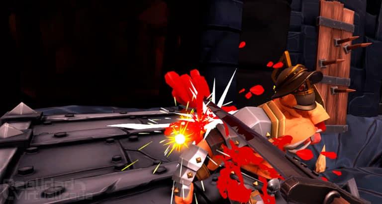 Gorn review imagen del juego