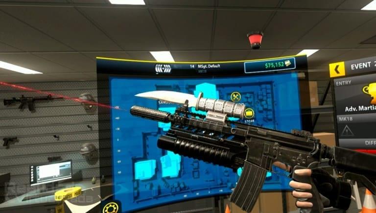 personalizando armas en gun club vr