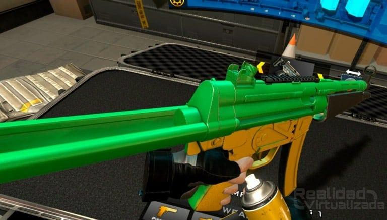 personalizar armas en gun club vr