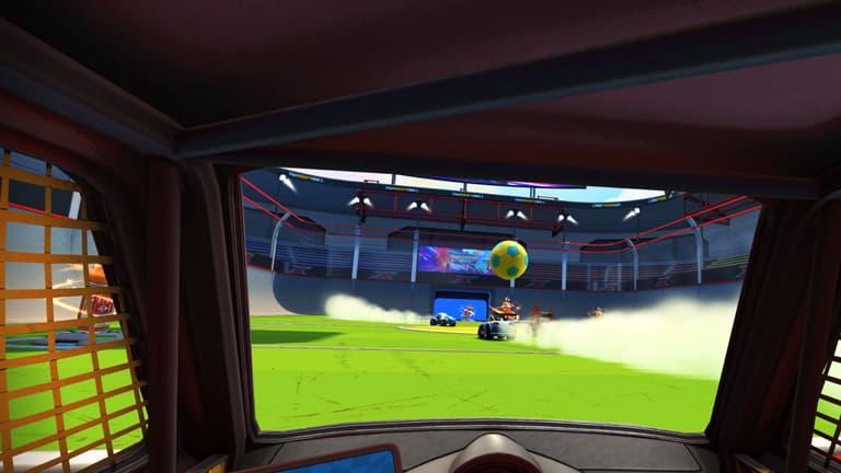 bumper ball un modo como rocket league en vr