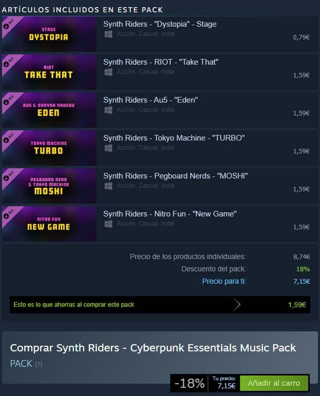 synth riders cyberpunk essentials pack dlc