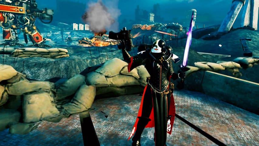 warhammer 40k battle sister vr gameplay